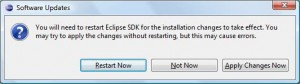 Eclipse - Restart Eclipse'a