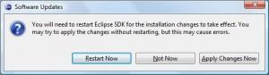 Eclipse - Restart Eclipse'a