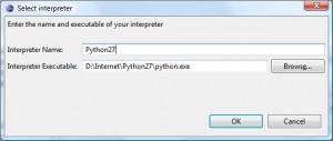 Eclipse - Wybór wersji interpretera Python'a