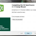 Wybór przeglądania przykładów oraz dokumentacji biblioteki Qt