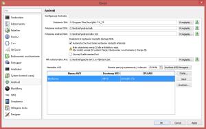 Konfiguracja Android - nowe urządzenie AVD Manager'a
